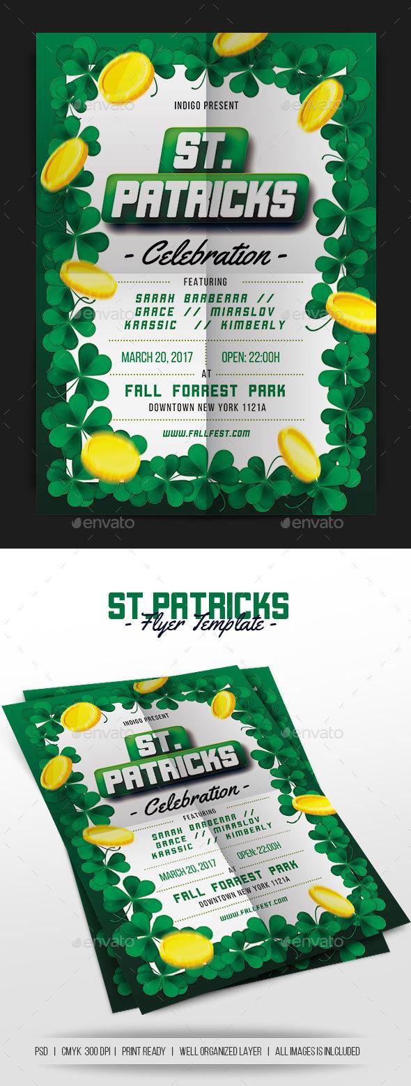 St Patricks Celebration - Events Flyers