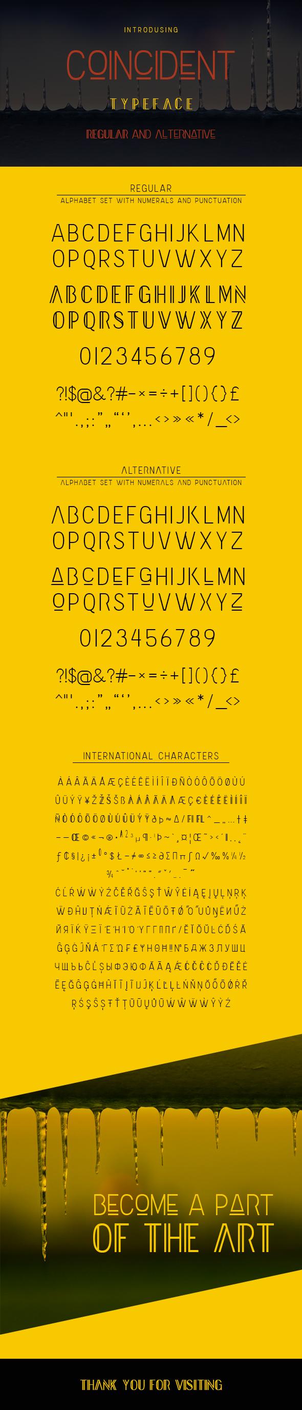 Coincident - Sans-Serif Fonts