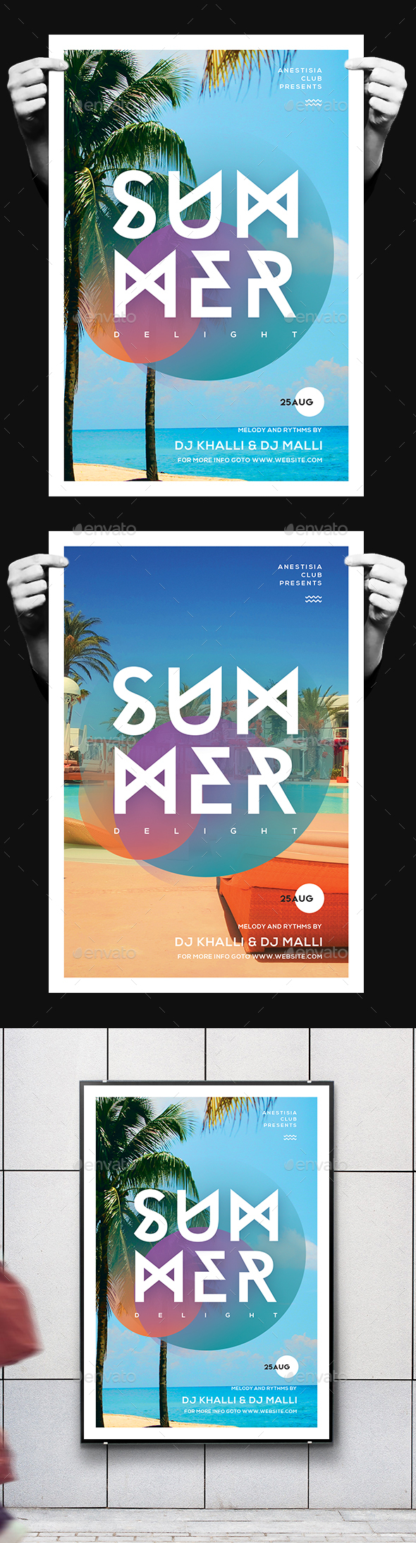 Minimal Summer Flyer - Clubs & Parties Events