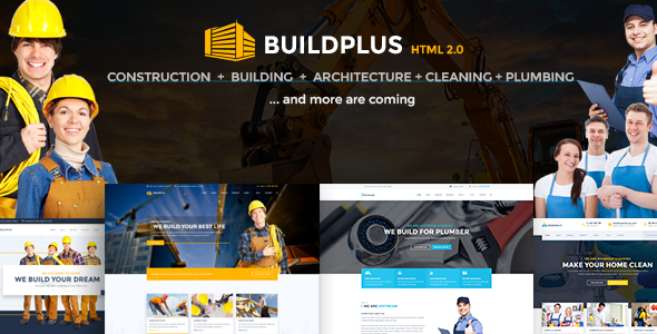 Construction HTML Template | BuildPlus Construction - Business Corporate