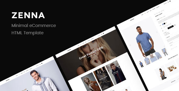 Zenna | Minimal E-commerce HTML Template - Retail Site Templates