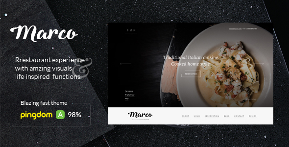 Marco – Modern Restaurant WordPress Theme