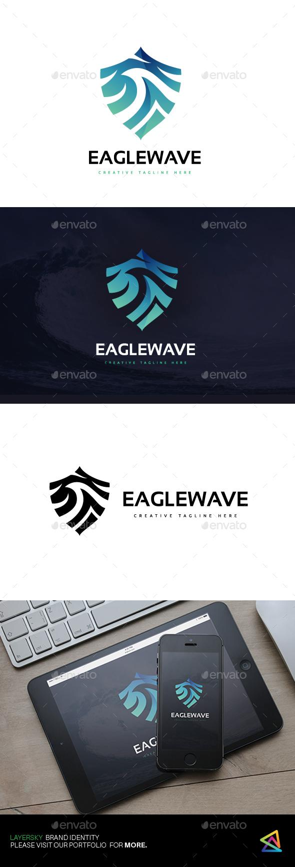 Eagle Wave Logo - Animals Logo Templates