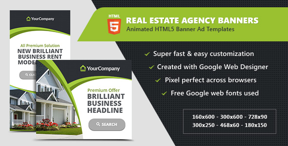 real estate agency banners html5 ad templates by infiniweb