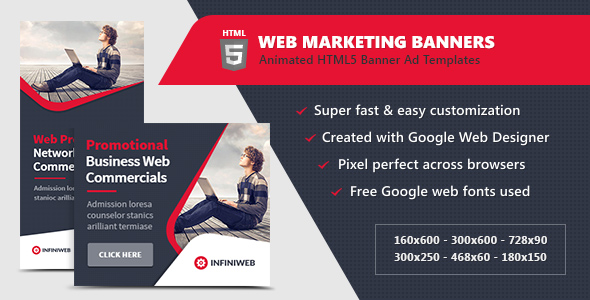 HTML5 Ads - Web Marketing Banner Templates - CodeCanyon Item for Sale