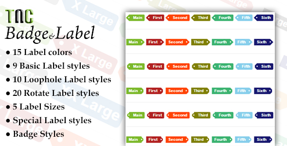 TNC Badge-Label | Responsive Multi-Purpose CSS - CodeCanyon Item for Sale
