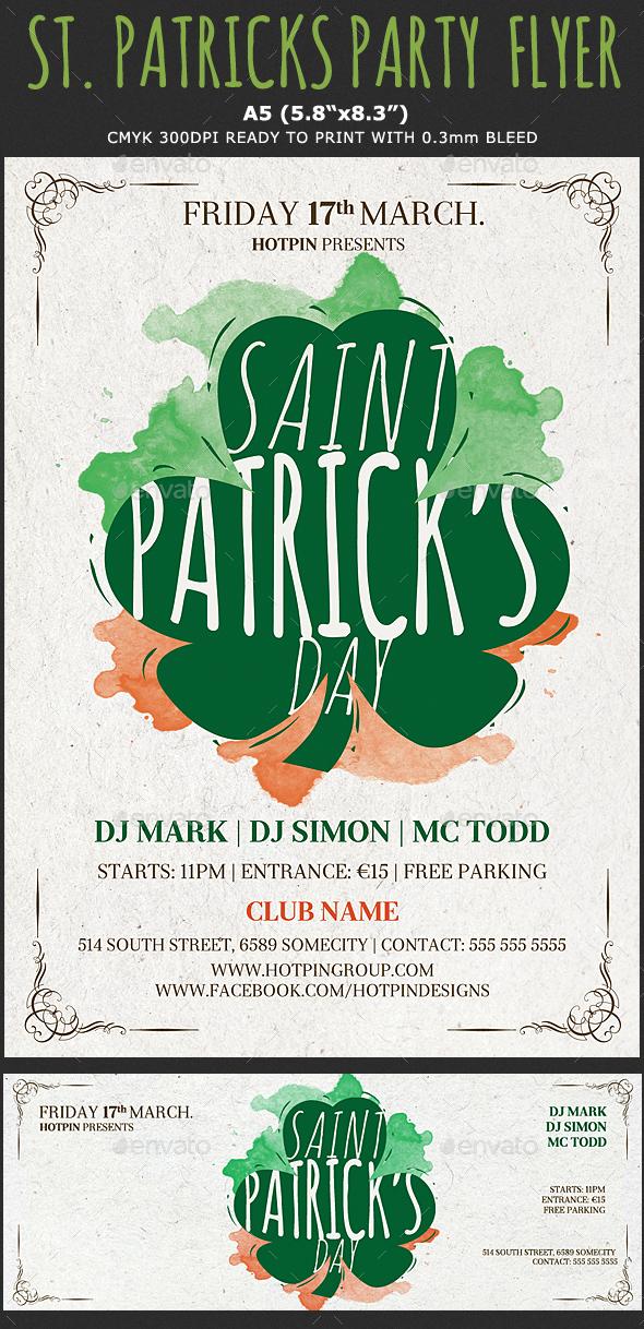 Saint Patricks Party Flyer Template - Events Flyers