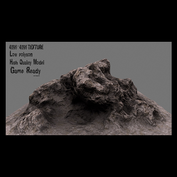 rock 01 - 3DOcean Item for Sale