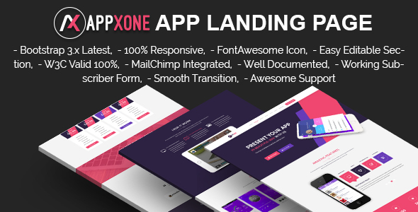 APPXONE - App Landing Template - Apps Technology