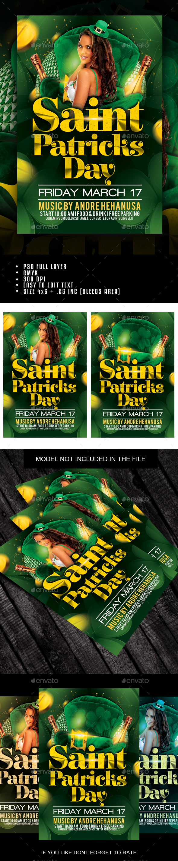 Saint Patricks Day Flyer - Holidays Events