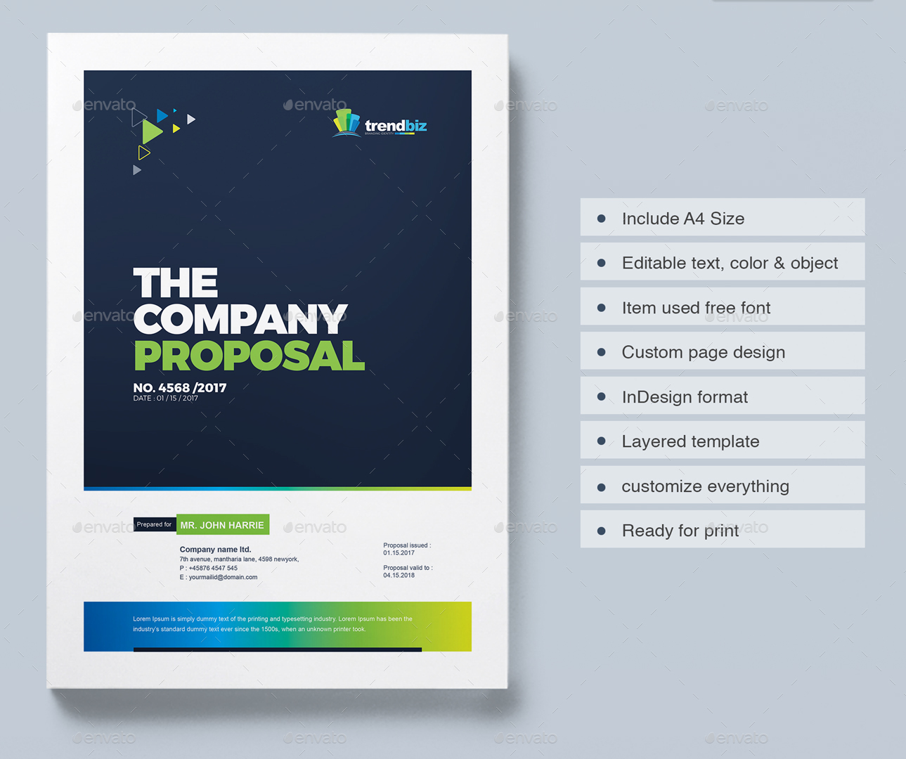 Proposal Template Design Project Proposal – Proposal Cover Page Design