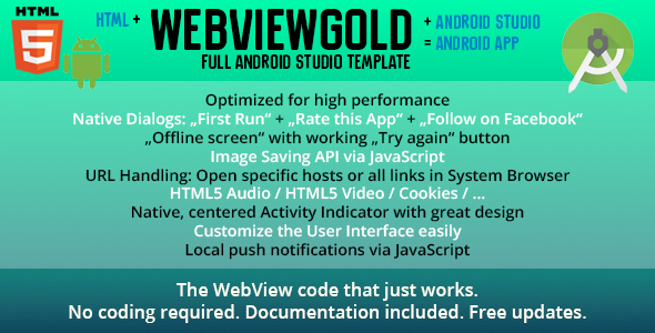 WebViewGold for Android – URL/HTML to Android app + Push, URL Handling, APIs & much more! - CodeCanyon Item for Sale