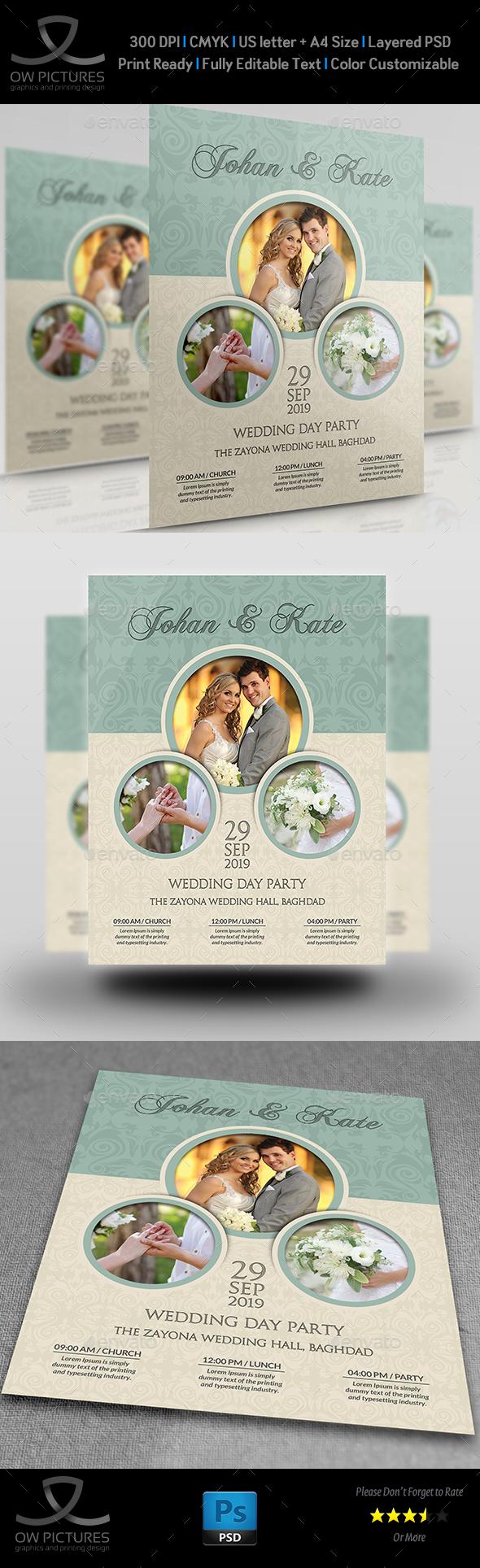 Wedding Party Flyer Template Vol.6 - Flyers Print Templates
