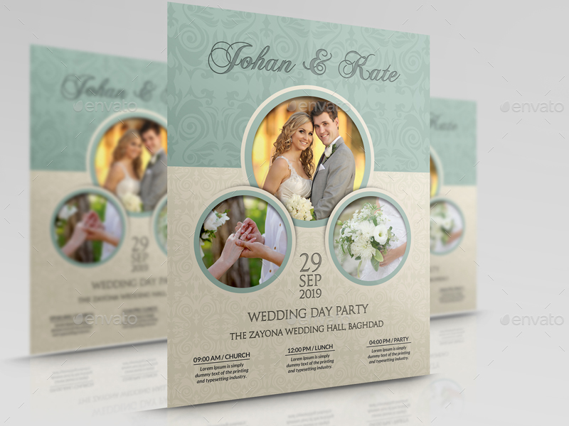 Wedding Party Flyer Template Vol By Owpictures  Graphicriver