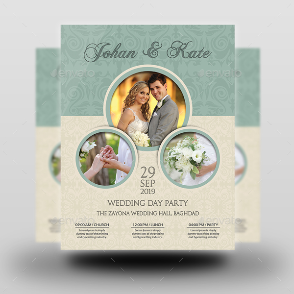 Wedding Party Flyer Template Vol.6 By Owpictures | Graphicriver