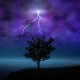 Night Storm With Lightning - VideoHive Item for Sale