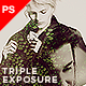 Triple Exposure Photoshop Template