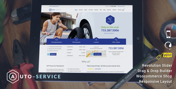 Auto Repair & Car Mechanic - WordPress - Business Corporate
