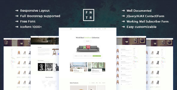 Furniture E-Commerce HTML Template