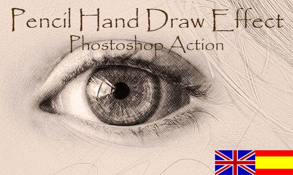 Pencil Hand Draw Effect. Photoshop action. - Photo Effects Actions