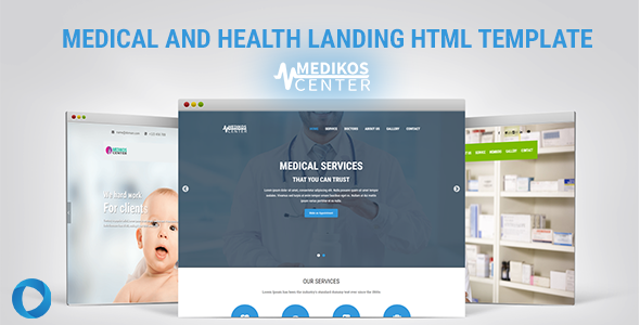 MediKos Center - Medical and Health HTML Landing Template