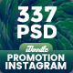 Promotion Instagram Banners Ads Bundle - 337PSD [09 Sets] - GraphicRiver Item for Sale