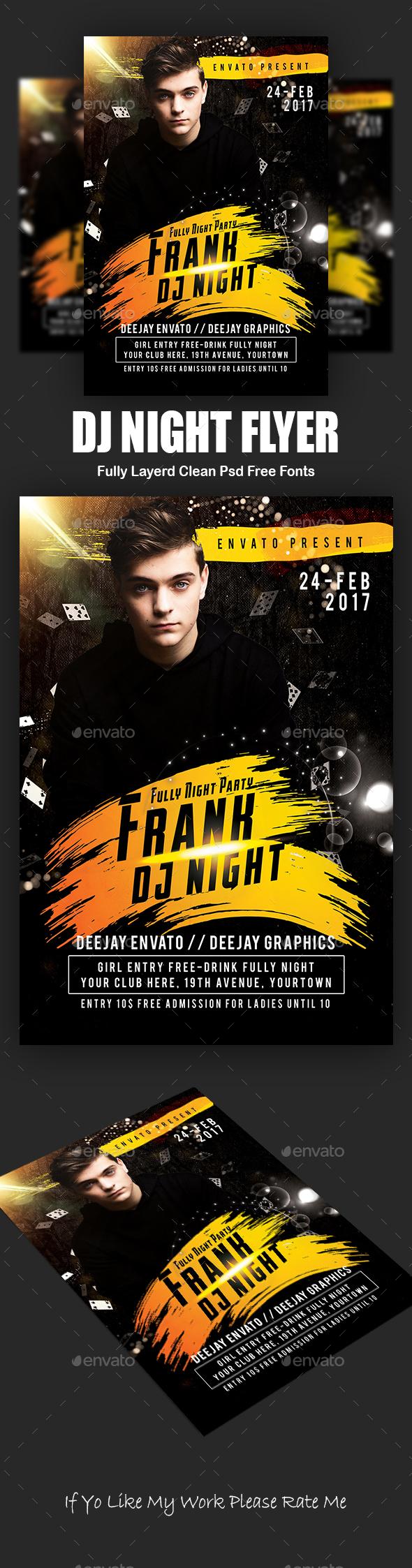 DJ Night Flyer - Events Flyers