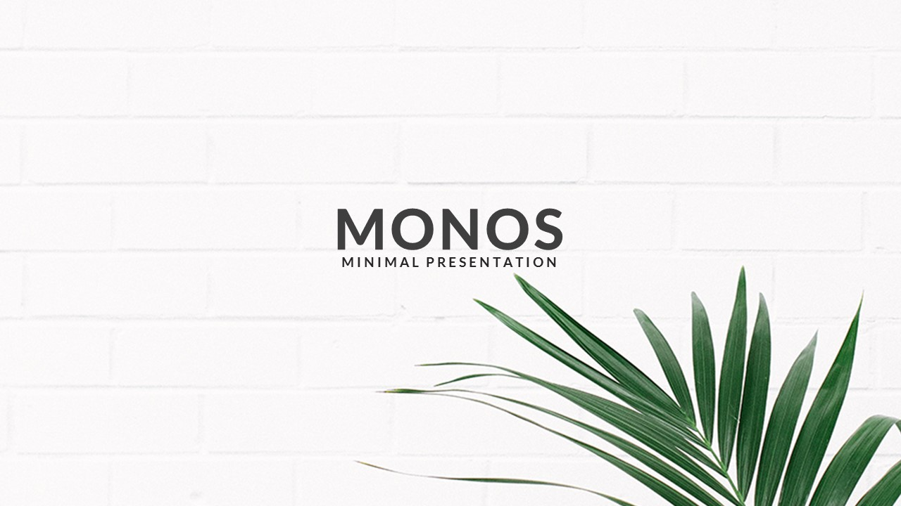 monos - minimal powerpoint templatezinstudio | graphicriver, Presentation templates