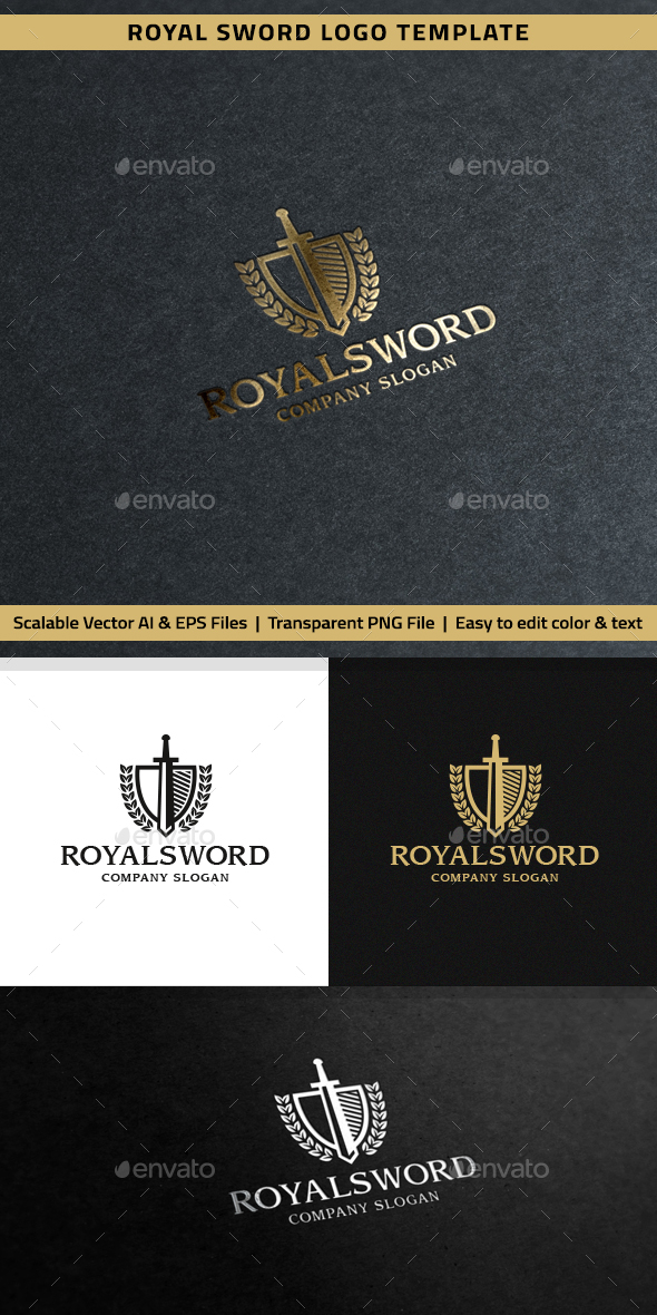 Royal Sword Logo - Crests Logo Templates