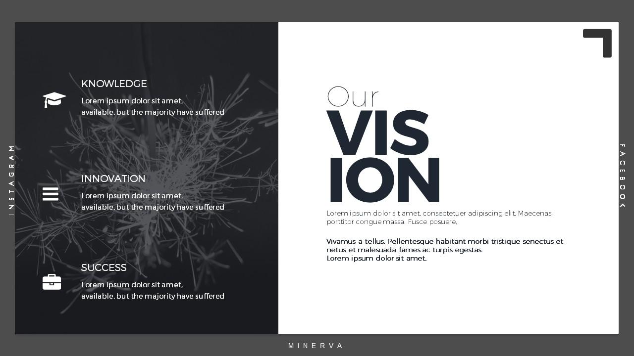 minerva minimal powerpoint presentation templatepresentationguru, Presentation templates