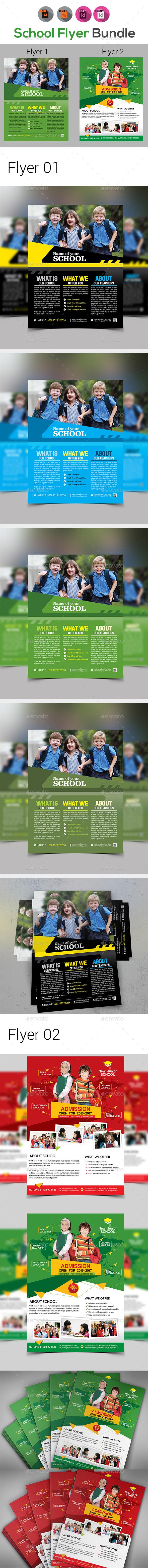Junior School Promotion Flyers Bundle - Corporate Flyers