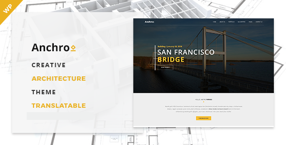 Anchro - Creative Architecture WordPress Theme - Business Corporate