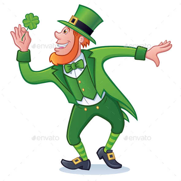 St. Patrick's Day Character with Clover - Miscellaneous Seasons/Holidays