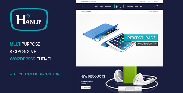 Handy Shop - Digital RTL Responsive WooComerce WordPress Theme