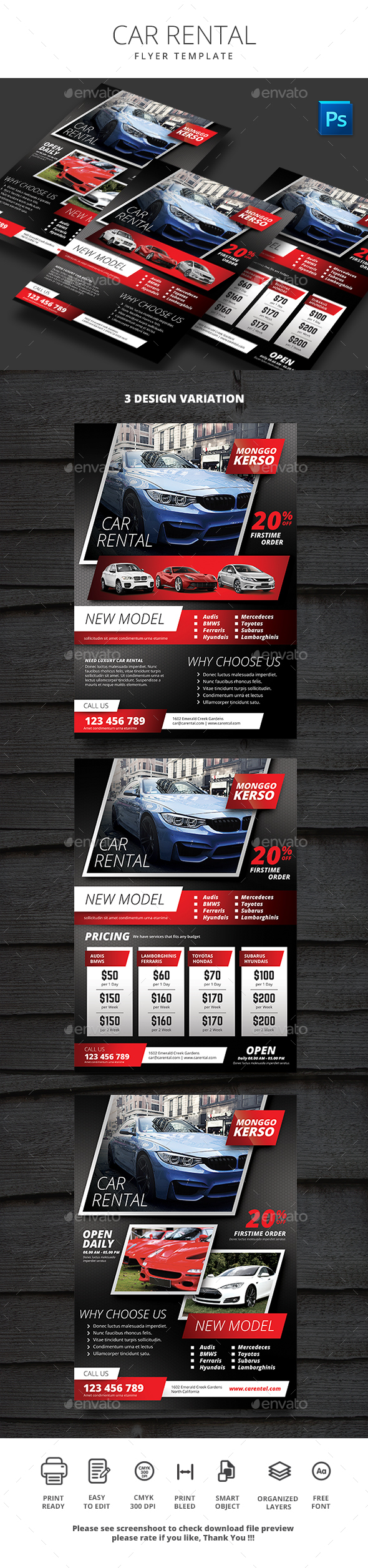 Car Rental - Flyers Print Templates
