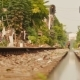 Residential Area Nearby Railways in Hanoi, Vietnam