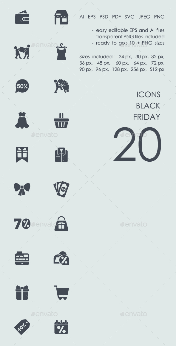 Black Friday icons - Icons