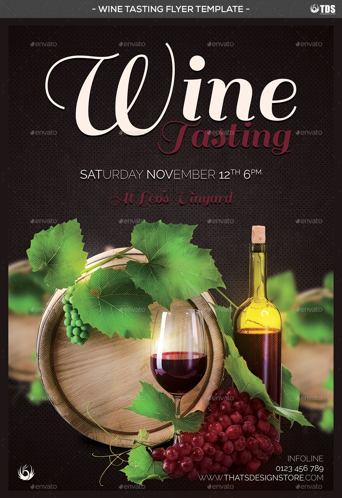 Wine tasting flyer template by lou606 graphicriver wine tasting flyer template maxwellsz