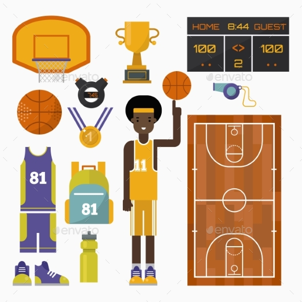 Basketball Vector Icons - Sports/Activity Conceptual