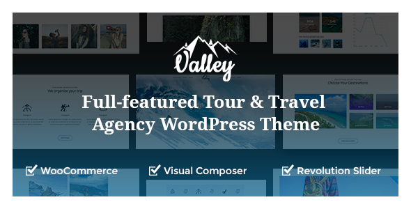 Valley - Full-featured Tour & Travel Agency WordPress Theme - Travel Retail