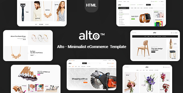 Alto - Minimalist eCommerce Template - Shopping Retail
