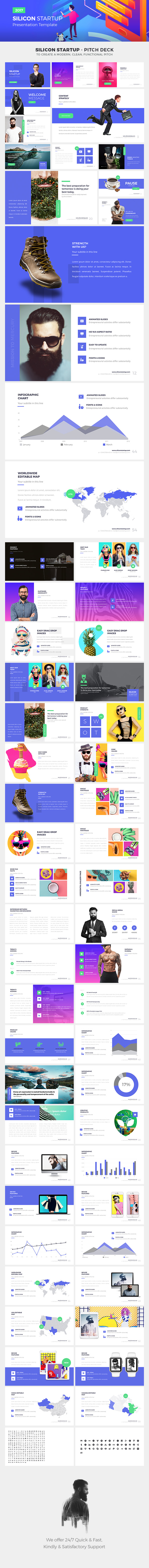 SILICON STARTUP - Google Slides Presentation Template - Google Slides Presentation Templates