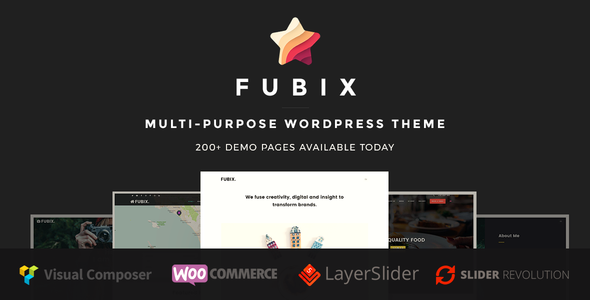 Fubix - Elegant Multi-Purpose WooCommerce Business WordPress Theme - Creative WordPress