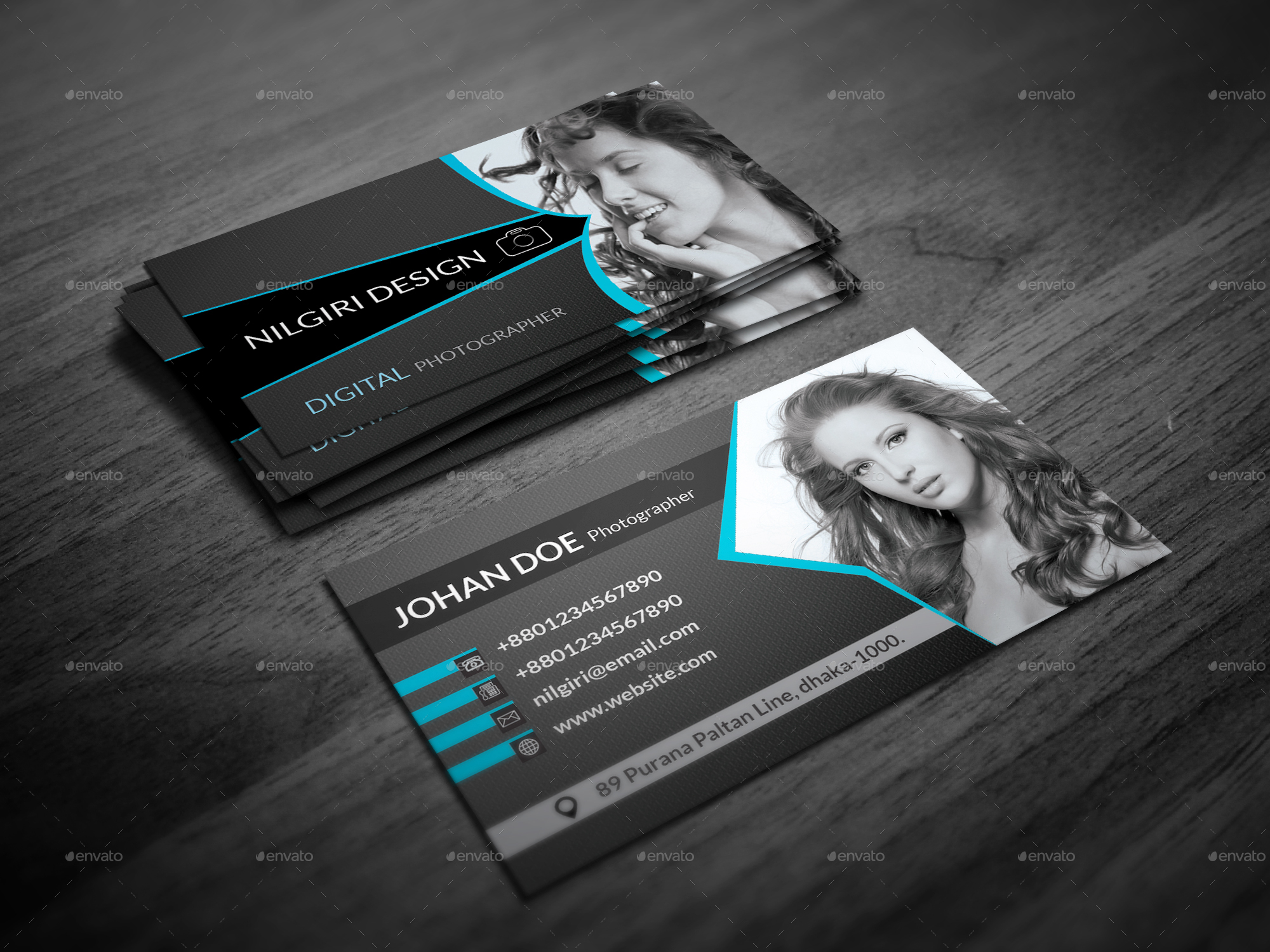 Photography business card by nilgiridesign graphicriver photography business card creative business cards 01g 02g reheart Images