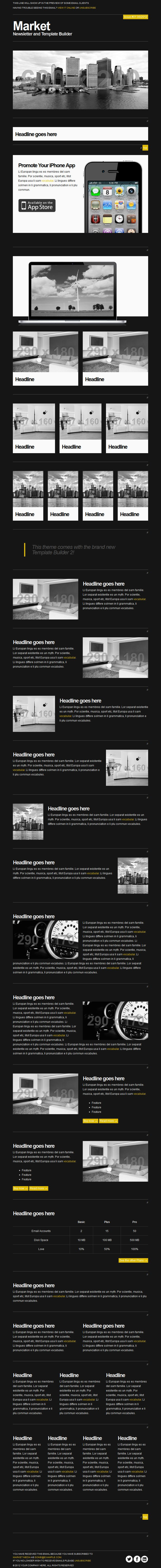 Market - Responsive Newsletter with Template Builder by EverPress ...