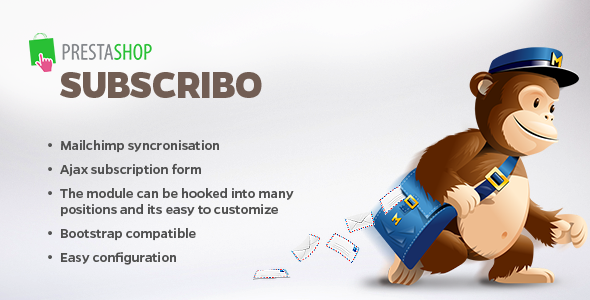 Subscribo - Mailchimp sync and subscribe form - CodeCanyon Item for Sale