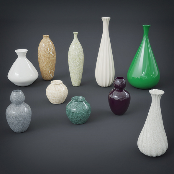 Vase Collection - 3DOcean Item for Sale
