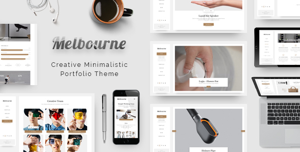 Melbourne - Responsive Minimal Portfolio Theme