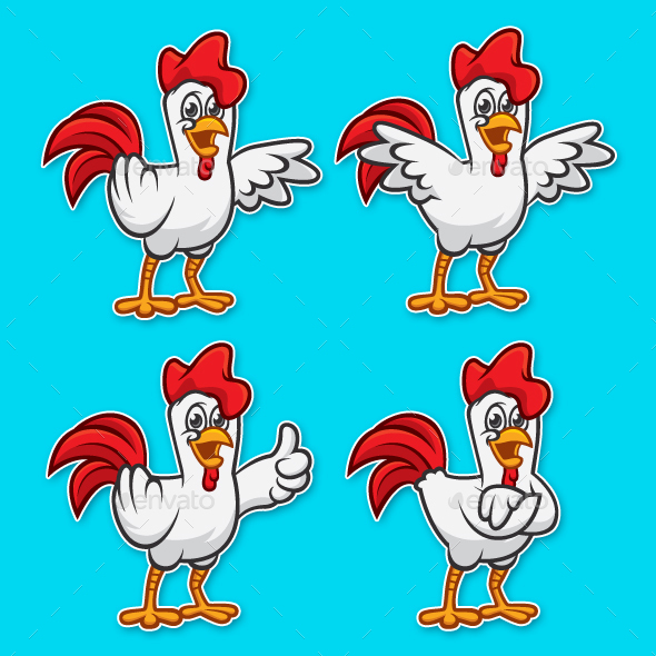 Rooster Mascot Pack - Animals Characters