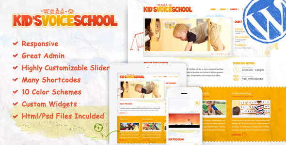 Kids Voice School - Responsive WordPress Theme